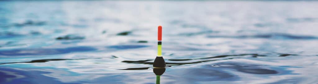 Pose im Wasser perfekt austariert.