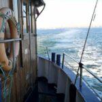 Angelkutter auf dem Meer