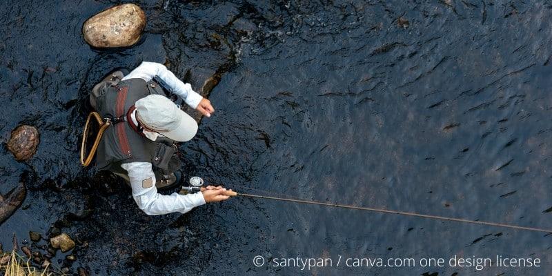 Friedfischangeln mit der Fliegenrute kann so einfach sein